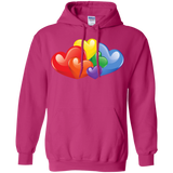 Vibrant Heart Gay Pride Pink Full Sleeves Unsex Hoodie LGBT Pride Hoodie for Men & Women
