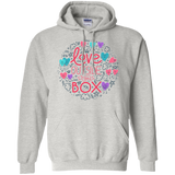 Love Outside The Box grey unisex hoodie LGBT Pride grey unisex hoodie