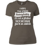 Anti Homophobia LGBT women Shirt Gay pride ultra cotton tshirt for women