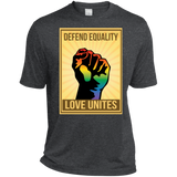 """Defend Equality, Love Unites"" Gay Pride T-shirt Round Neck Half Sleeves Digital Print T-shirt"