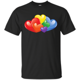 Vibrant Heart Gay Pride Black T Shirt for Men  LGBT Pride Tshirt for Men
