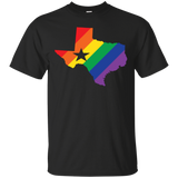 Rainbow Texas Pride Shirt for men texas print on shirt
