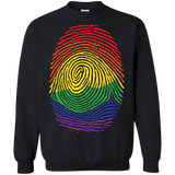 Gay Pride Thumb Print black sweatshirt for men & women Rainbow Thumb print unisex sweatshirt
