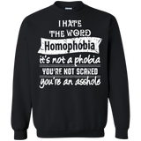 Anti Homophobia LGBT black unisex sweatshirt Gay pride ultra cotton unisex sweatshirt