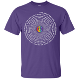"""Pride Month Peace"" Special Shirt LGBT Pride purple tshirt for men"