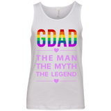 G-DAD | The Man | The Myth | The Legend | White Unisex T-Shirt