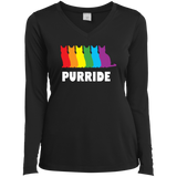 PURRIDE....Pride black full sleeves tshirt for women | pet lover tshirt