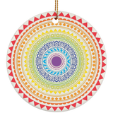 Pride Color Chakra Christmas Ornament
