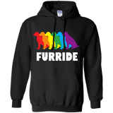 FURRIDE....Pride black long sleeves hoodie for men & women | pet lover hoodie