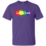 """Love is Love"" purple T Shirt for men LGBT Pride Equality tshirt for men"