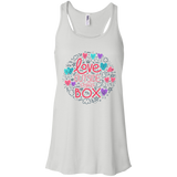 Love Outside The Box Tank top for women LGBT Pride women grey tank top