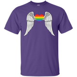 Gay Pride Guardian Angel Shirt LGBT Guardian Angel purple Tshirt for Men's