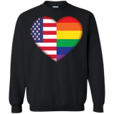 Gay Pride USA Flag Love black unisex sweatshirt LGBT Pride USA Flag sweatshirt for men & women