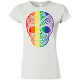 Rainbow Skull T Shirt for women LGBT Pride Tshirt for women