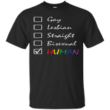 Human Check Box LGBT Pride black T Shirt Human Equality LGBT Pride Black Tshirt for Men
