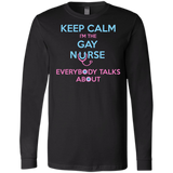 Keep Calm I'm The Gay Nurse black full sleeves tshirt for Men