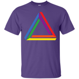 Funky Gay Pride Purple Shirt Rainbow Triangle Gay Pride Tshirt