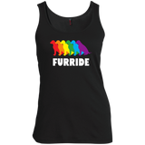 FURRIDE....Pride grey tank top for women | pet lover tank top