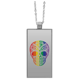 Rainbow Skull Necklace