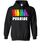 PURRIDE....Pride black long sleeves hoodie for men & women | pet lover hoodie