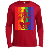 Gay Pride Halloween Shirt - Half Skeleton