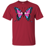 Trans Pride Butterfly red tshirt | Unique Design Trans Pride red Tshirt for men