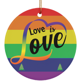 Love Is Love Circle Ornament