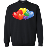 Vibrant Heart Gay Pride Black Full Sleeves Unsex Sweatshirt LGBT Pride unisex Sweatshirt