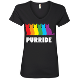 PURRIDE....Pride black half sleeves tshirt for women | pet lover tshirt