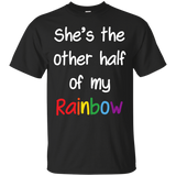 Rainbow couple tshirt black color