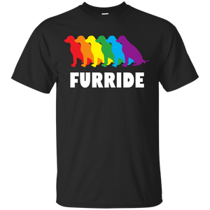 FURRIDE....Pride black half sleeves tshirt for men | pet lover tshirt