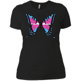 Trans Pride Butterfly black Shirt for women | Unique Design Trans Pride black Tshirt for women