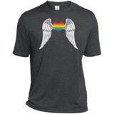 Gay Pride Guardian Angel dark grey Shirt LGBT Guardian Angel Tshirt for Men's