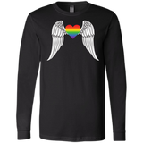 Gay Pride Guardian Angel full sleeves Shirt LGBT Guardian Angel black Tshirt for Men's