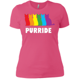 PURRIDE....Pride Pink half sleeves tshirt for women | pet lover tshirt