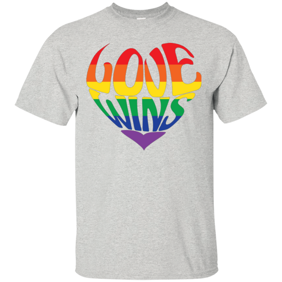 Love Wins Grey Shirt Gay Pride Shirt LGBTQ Shirt for men