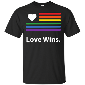 """LGBT Flag Love Wins"" Black Pride Shirt for men LGBT Flag printed shirt"