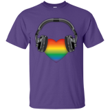 Listen to Your Heart LGBT Pride purple Tshirt for men