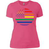 """Circular Rainbow Flag"" Gay Pride Round Neck Pink Color T-shirt, Half Sleeves"