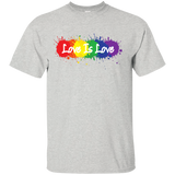 """Love is Love"" grey T Shirt for men LGBT Pride Equality tshirt for men"