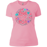Love Outside The Box pink tshirt for women LGBT Pride women pink tshirt