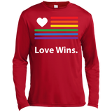 """LGBT Flag Love Wins"" LGBT Pride Red full Sleeves tshirt for Men"