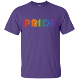 PRIDE Text in Rainbow Color Written Shirt