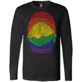 Gay Pride Thumb Print full sleeves blach T-Shirt Rainbow Thumb print men's tshirt