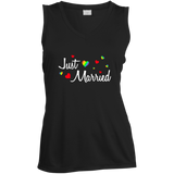 Just Married Rainbow Hearts Shirt