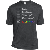 Human Check Box LGBT Pride Dark Grey T Shirt Human Equality LGBT Pride Dark Grey Tshirt for Men