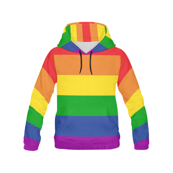 All Over Print Rainbow Hoodie