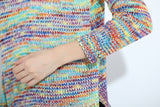 Rainbow knitted sweater