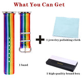 Resizable High Quality Rainbow Watch Band