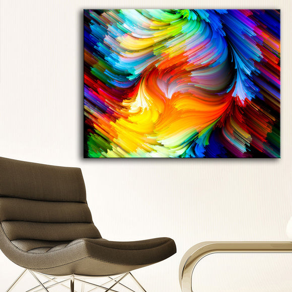 Abstract Rainbow Canvas Wall Art